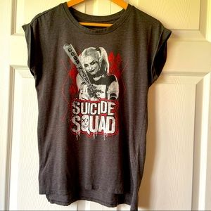 Harley Quinn Suicide Squad Bat T-Shirt Black med.